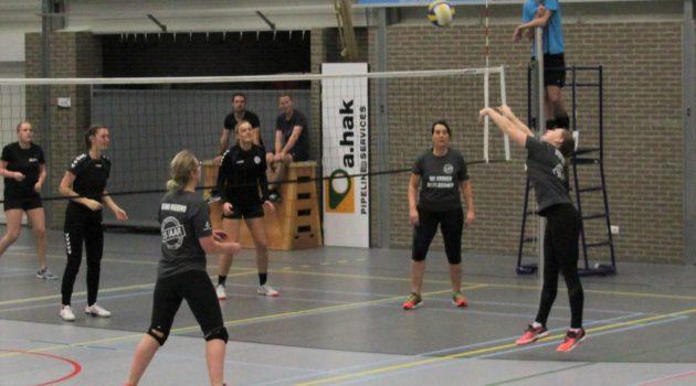 Een sportief begin van het jaar tijdens het dorpsvolleybal toernooi