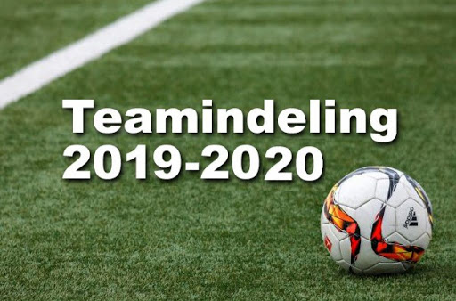 Teamindeling jeugdvoetbal seizoen 2020-2021