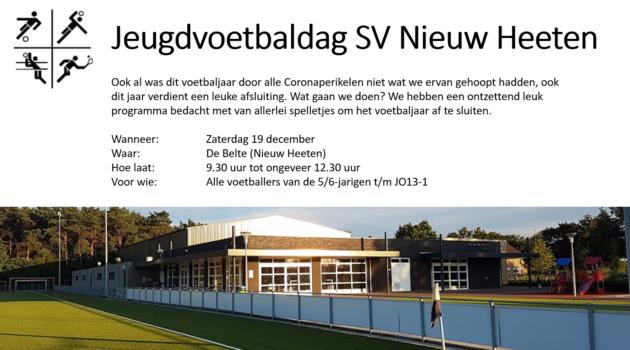 Jeugdvoetbaldag SV Nieuw Heeten