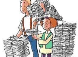 Oud papier brengen i.p.v. ophalen op 1 mei